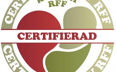Nyhet! Vi är certifierade av RFF